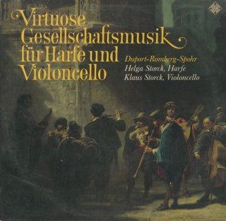 1800年代のハープとチェロのためのソナタ集/デュポール,ロンベルク,シュポーア