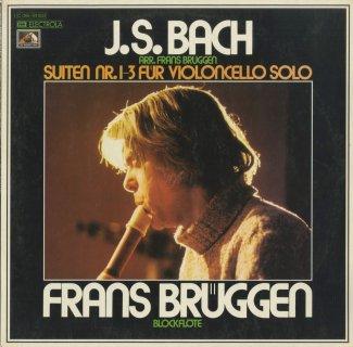 バッハ(ブリュヘン編):無伴奏チェロ組曲1番BWV.1007,2番BWV.1008,3番BWV.1009