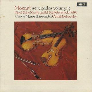 「モーツァルト:セレナーデ集Vol.3」アイネ・クライネK.525,セレナーデ3番K.185