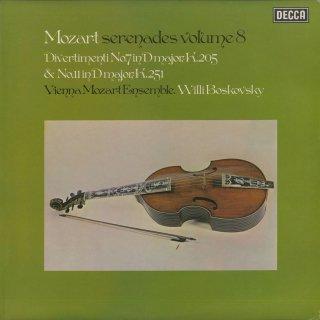 「モーツァルト:デレナーデ集Vol.8」ディヴェルティメント7番K.205,11番K.251