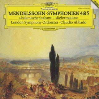メンデルスゾーン:交響曲4番Op.90「イタリア」,5番Op.107「宗教改革」