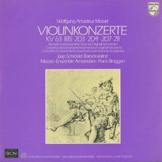 モーツァルト:ヴァイオリン協奏曲1,2番,断章集/カッサシオンK.63,セレナーデK.203,185,204より