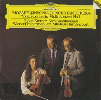 モーツァルト:協奏交響曲K.364,ヴァイオリン協奏曲1番K.207