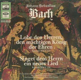 バッハ:カンタータBWV.137,BWV.190