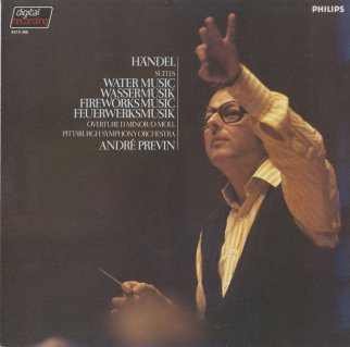 ヘンデル:組曲「水上の音楽」(ハーティ版),組曲「王宮の花火の音楽」(ハーティ版)
