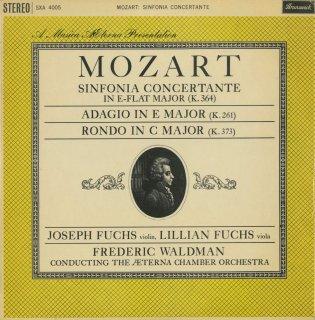 モーツァルト:協奏交響曲K.364,ヴァイオリンと管弦楽のためのアダージョK.261,ロンドK.373