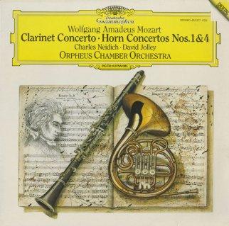 モーツァルト:クラリネット協奏曲K.622,ホルン協奏曲1番K.412,4番K.495