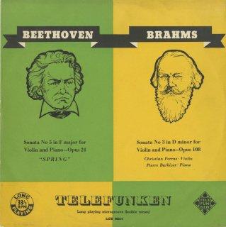 ヴァイオリン・ソナタ集/ベートーヴェン:5番Op.24「春」,ブラームス:3番Op.108