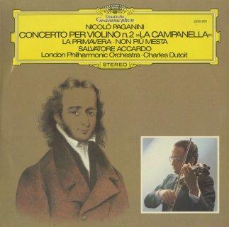 """パガニーニ:ヴァイオリン協奏曲2番Op.7「鐘」,春,""""Non piu mesta""""による序奏と変奏曲"""