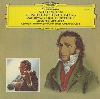 パガニーニ:ヴァイオリン協奏曲5番,マエストーサ・ソナタ・センティメンターレOp.27