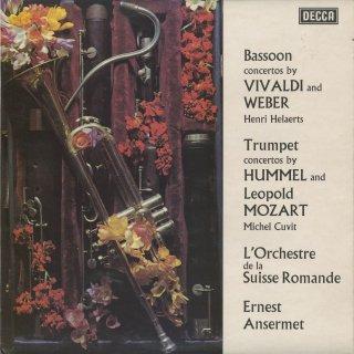 ファゴット協奏曲/ヴィヴァルディ,ウェーバー,トランペット協奏曲/フンメル,L.モーツァルト