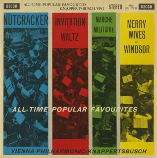 「All-Time Popular Favourites」チャイコフスキー:組曲「くるみ割り人形」Op.71a,シューベルト:軍隊行進曲Op.51−1,ウェーバー,ニコライ