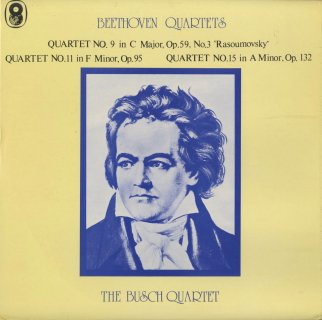 ベートーヴェン:弦楽四重奏曲9番Op.59-3,11番Op.95,15番Op.132