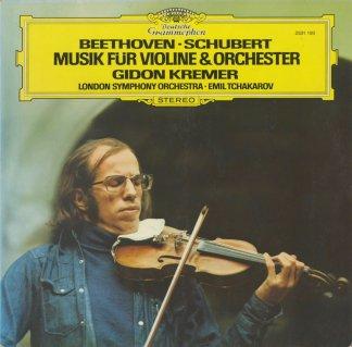 ベートーヴェン:ヴァイオリン協奏曲断章,ロマンス1番,シューベルト:アダージョとアレグロ,ポロネーズ,ロンド
