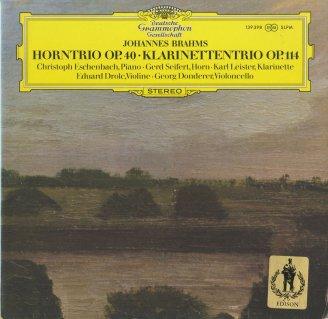 ブラームス:ホルン三重奏曲Op.40,クラリネット三重奏曲Op.114