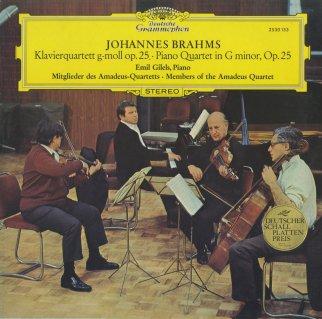 ブラームス:ピアノ四重奏曲1番Op.25
