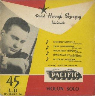 「リサイタル」ヴィエニャフスキ,チャイコフスキー,ドヴォルザーク,リムスキー・コルサコフ,ノヴァーチェク,全5曲