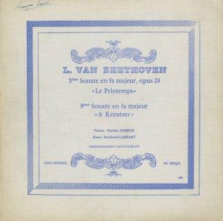 ベートーヴェン:ヴァイオリン・ソナタ5番「春」,9番「クロイツェル」