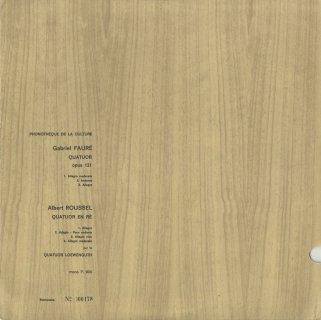 弦楽四重奏曲集/フォーレ:Op.121,ルーセル