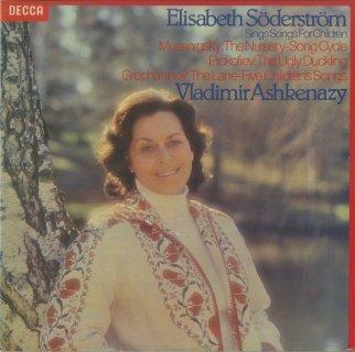 歌曲集/ムソルグスキー:子供部屋,プロコフィエフ:みにくいあひるの子Op.18,グレチャニノフ:5つの子供の歌Op.89