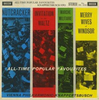 「All-Time Popular Favourites」チャイコフスキー:組曲「くるみ割り人形」Op.71a,シューベルト:軍隊行進曲Op.51-1,ウェーバー,ニコライ