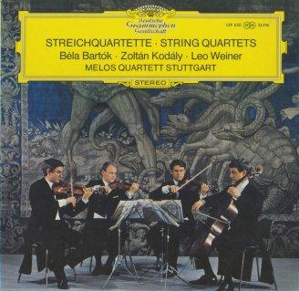 バルトーク:弦楽四重奏曲3番,コダーイ:弦楽四重奏曲2番Op.10,ヴェイネル:弦楽四重奏曲3番Op.26
