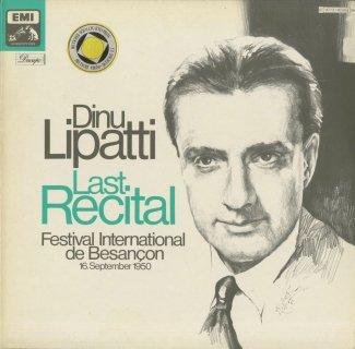 「リパッティ・最後のリサイタル」バッハ:パルティータ1番,モーツァルト:ピアノ・ソナタ8番,ショパン:ワルツ集(13曲),他