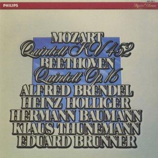 モーツァルト:ピアノと管楽のための五重奏曲K.452,ベートーヴェン:ピアノと管楽のための五重奏曲Op.16