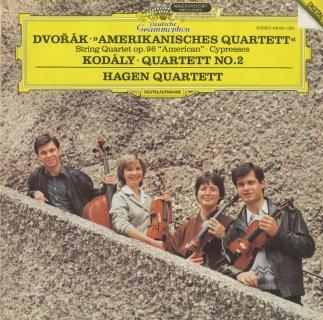 ドヴォルザーク:弦楽四重奏曲12番Op.96「アメリカ」,糸杉,コダーイ:弦楽四重奏曲2番Op.10