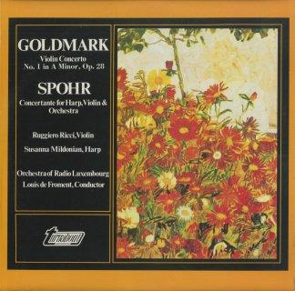 シュポーア:ヴァイオリンとハープのための協奏曲,ゴルトマルク:ヴァイオリン協奏曲1番Op.28
