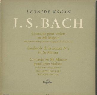 バッハ:ヴァイオリン協奏曲2番,サラバンド(無伴奏ソナタ2番),2つのヴァイオリンのための協奏曲