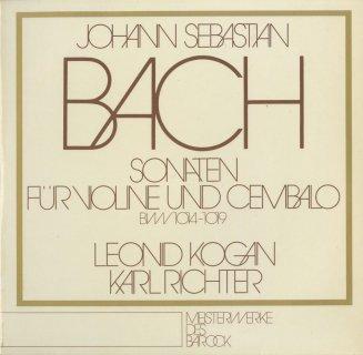 バッハ:ヴァイオリン・ソナタ全曲BWV.1014〜9