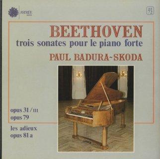 ベートーヴェン:ピアノ・ソナタ18番Op.31-3,25番Op.79,26番Op.81a「告別」