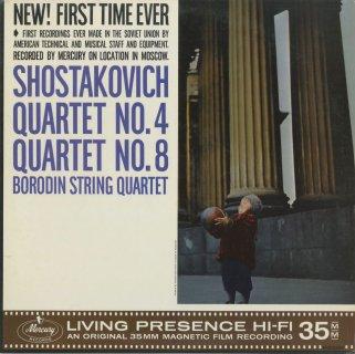 ショスタコーヴィチ:弦楽四重奏曲4番Op.83,8番Op.110