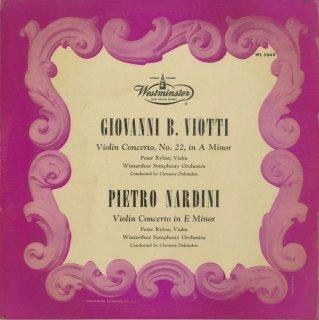 ヴィオッティ:ヴァイオリン協奏曲22番,ナルディーニ:ヴァイオリン協奏曲