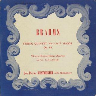 ブラームス:弦楽四重奏曲1番Op.88