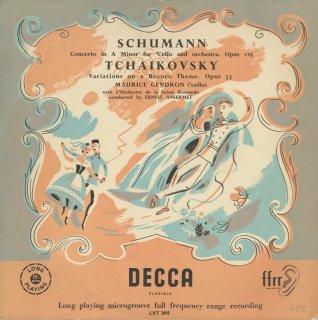 シューマン:チェロ協奏曲Op.129,チャイコフスキー:ロココ変奏曲Op..33