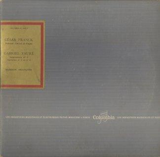 フランク:前奏曲・コラールとフーガ,フォーレ:即興曲2番,夜想曲2,4番