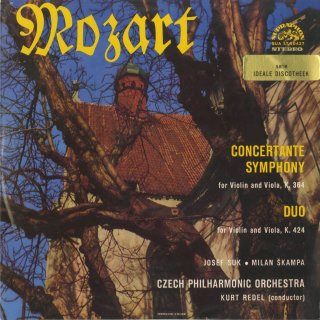 モーツァルト:協奏交響曲K.364,ヴァイオリンとヴィオラのための二重奏曲2番K.424