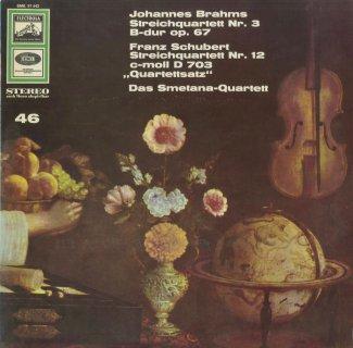 ブラームス:弦楽四重奏曲3番Op.67,シューベルト:弦楽四重奏曲12番「四重奏断章」