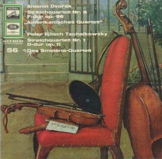 弦楽四重奏曲集/ドヴォルザーク:6番Op.96「アメリカ」,チャイコフスキー:1番Op.11