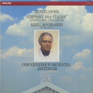 メンデルスゾーン:交響曲4番Op.90「イタリア」,カゼッラ:パガニーニアーナOp.65