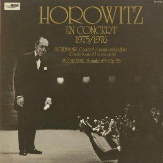 「ホロヴィッツ・コンサート1975/76」ピアノ・ソナタ集/シューマン:3番Op.14,スクリャービン:5番Op.53