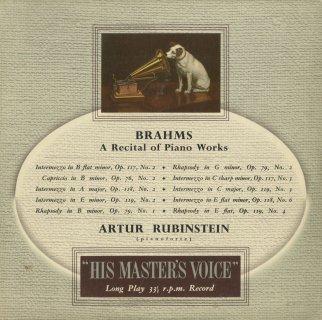 ブラームス:ピアノ・リサイタル/間奏曲,奇想曲,狂詩曲