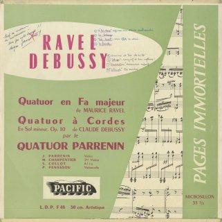 ラヴェル:弦楽四重奏曲,ドビュッシー:弦楽四重奏曲Op.10