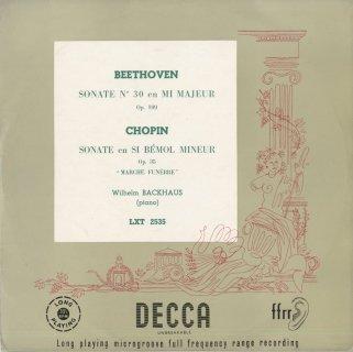 ベートーヴェン:ピアノ・ソナタ30番Op.109,ショパン:ピアノ・ソナタ2番「葬送」