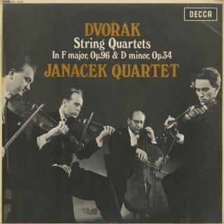 ドヴォルザーク:弦楽四重奏曲2番Op.34,6番Op.96