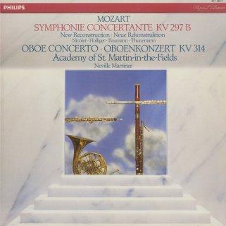 モーツァルト:協奏交響曲K.297b,オーボエ協奏曲K.314