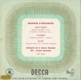 「フランス管弦楽曲集」サン・サーンス:死の舞踏,オンファールの糸車,シャブリエ:楽しい行進曲,スペイン,ラヴェル:パヴァーヌ