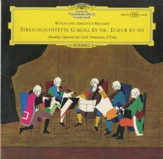 モーツァルト:弦楽五重奏曲4番K.516,5番K.593